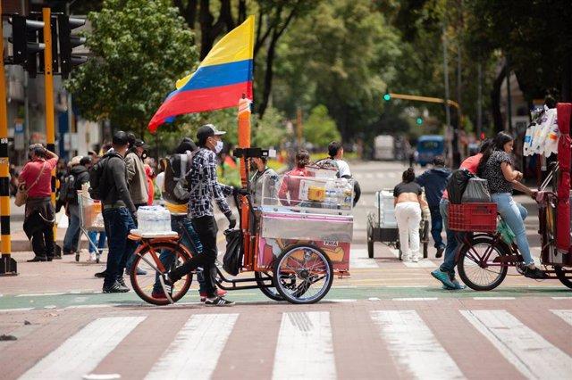 Archivo - Manifestación en la capital de Colombia, Bogotá