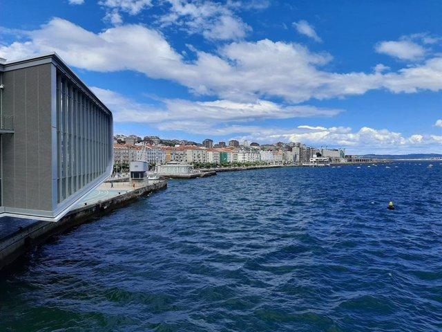 Ciudad de Santander, vista desde el Centro Botín. Capital cántabra. Turismo.