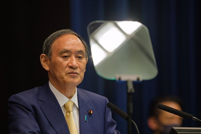 08 July 2021, Japan, Tokyo: Japanese Prime Minister Yoshihide Suga speaks during a press conference at the prime minister's official residence. The government decided to declare a coronavirus disease (COVID-19) state of emergency for Japanese capital city