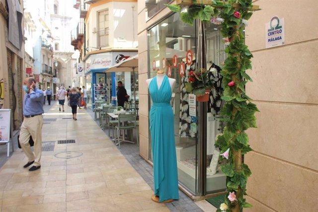 Calle San Juan del centro de Málaga capital