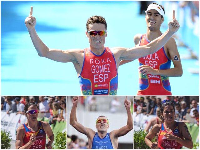 Los cinco triatletas españoles que competirán en Tokio