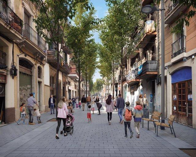 Situació prevista al carrer del Rector Triadó.