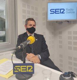 El delegado del Gobierno en Galicia, José Miñones, en una entrevista para Cadena Ser.