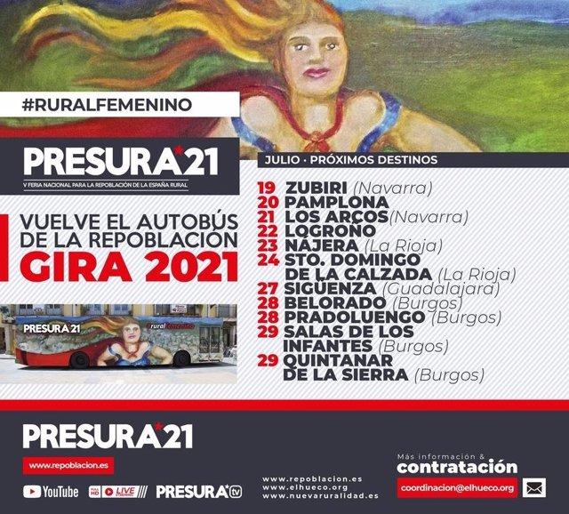 El Autobús de la Repoblación recorre este verano el Camino de Santiago para visibilizar una España rural pujante y emprendedora