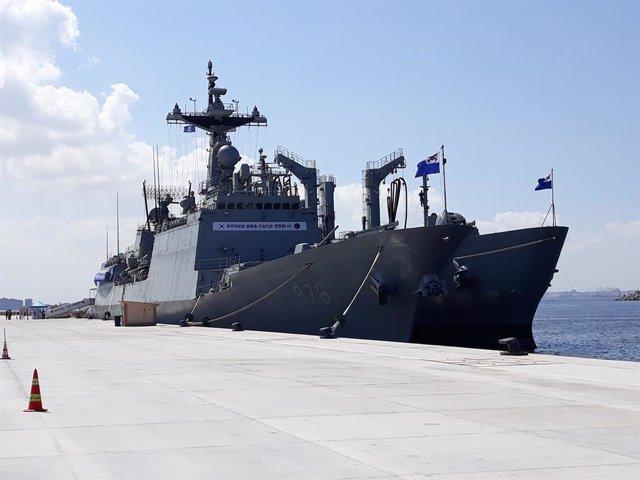 Archivo - El buque de guerra surcoreano 'Munmu el Grande'
