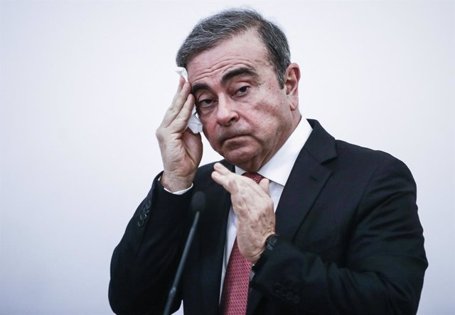 Archivo - FILED - 08 January 2020, Lebanon, Beirut: Carlos Ghosn speaks during a press conference. French carmaker Renault on Friday posted a loss of 141 million euros (153 million dollars) for 2019, its first full year without longstanding boss Carlos Gh