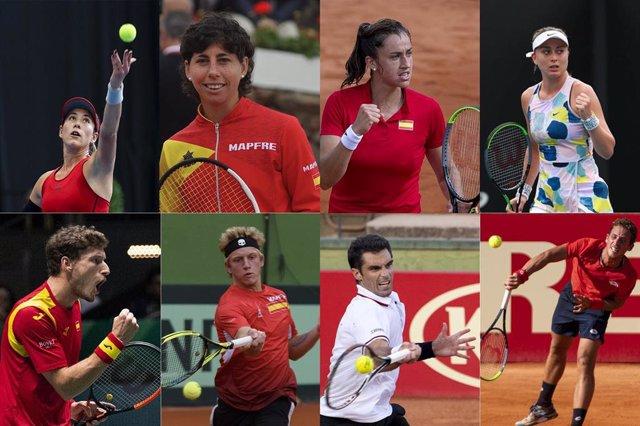 Equipo español de tenis para los Juegos de Tokio
