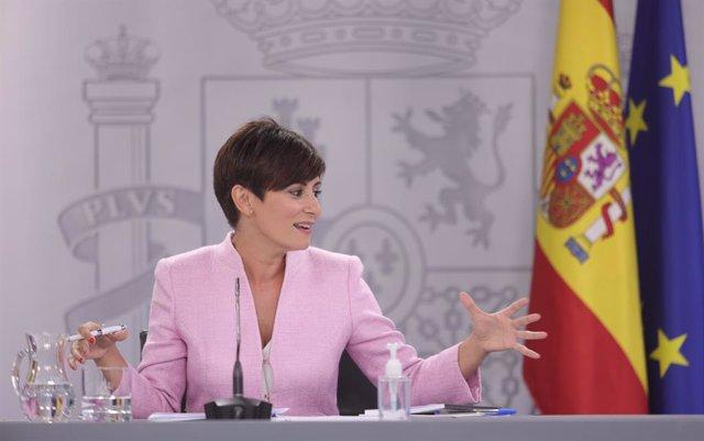 Arxiu - La ministra de Política Territorial, Isabel Rodríguez