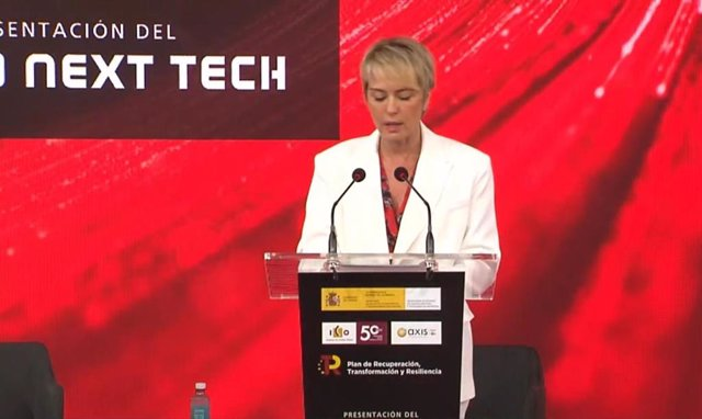 La secretaria de Estado de Digitalización e Inteligencia Artificial, Carme Artigas, durante la presentación de NextTech