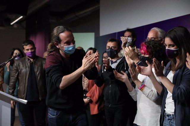 Archivo - Arxiu - L'exvicepresident segon i exlíder de Podem, Pablo Iglesias