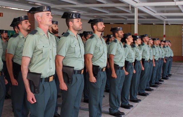 Imagen de archivo de la incorporación de agentes de la Guardia Civil