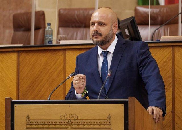 El portavoz adjunto de Vox en el Parlamento andaluz, Rodrigo Alonso.