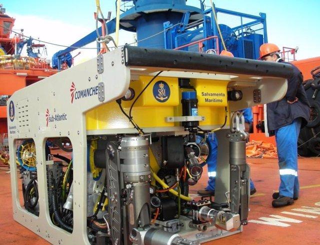 Robot (ROV) de Sasemar que se empleará en la búsqueda del tripulante desaparecido
