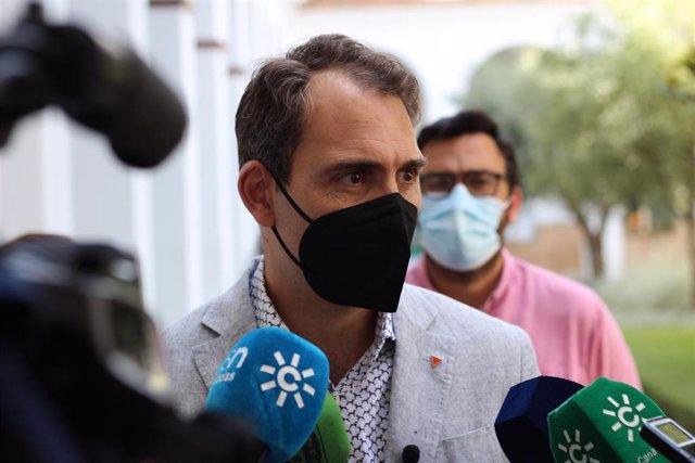 Toni Valero, coordinador de IU Andalucía y portavoz de Unidas Podemos por Andalucía, en una foto de archivo.