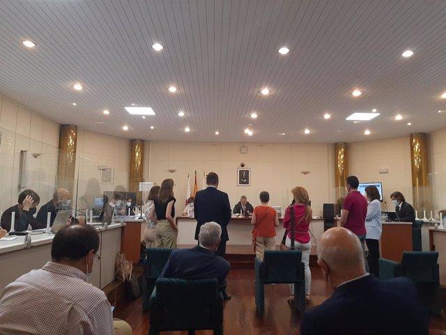 Peritos declarando durante el juicio por los vertidos contaminantes de Sniace al Saja-Besaya.