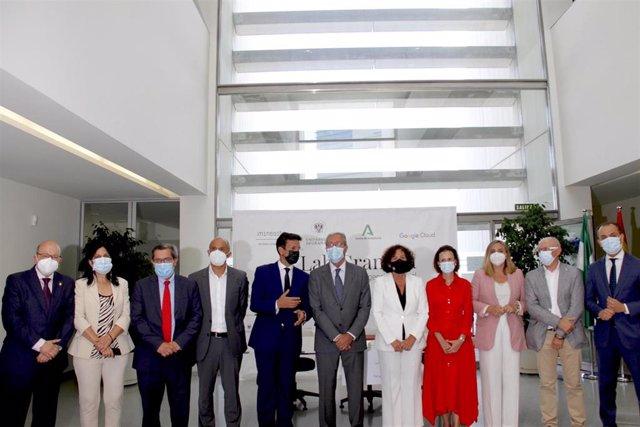 Acto de presentación de 'AI Lab Granada', uno de los mayores centros de desarrollo de Inteligencia Artificial de Europa