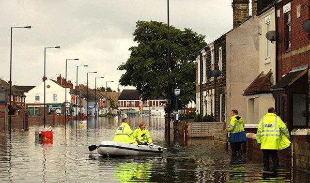 Inundaciones en zona urbana
