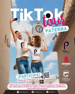 Cartel del TikTok 'tour' de Paterna