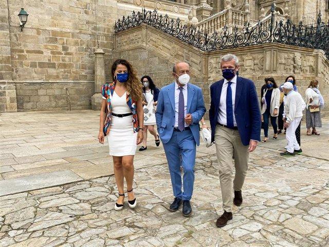 El consejero de Turismo, Javier López Marcano, participa en Santiago de Compostela en el encuentro de consejeros de las Comunidades del Camino de Santiago.