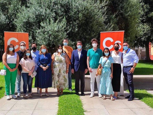 Visita de los jóvenes de Cs a la Diputación de Sevilla