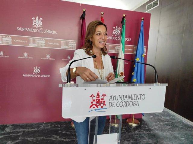 La portavoz del PSOE en el Ayuntamiento de Córdoba, Isabel Ambrosio.