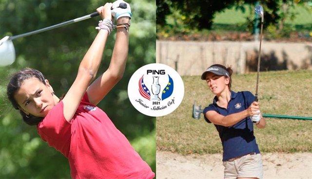 Cayetana Fernández y Andrea Revuelta, elegidas para el equipo europeo de la PING Junior Solheim Cup 2021