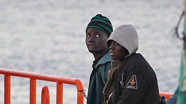 Archivo - Migrantes subsaharianos