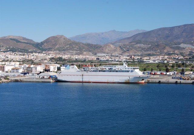 Archivo - El ferry 'Volcán de Tauce', que conecta Motril con Tánger-Med