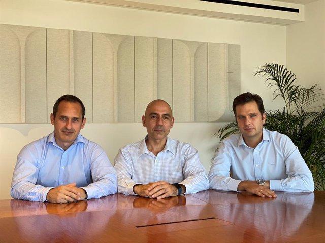 Los socios de Teset Capital, Javier Zabala, Ángel Escudero y José Arango.