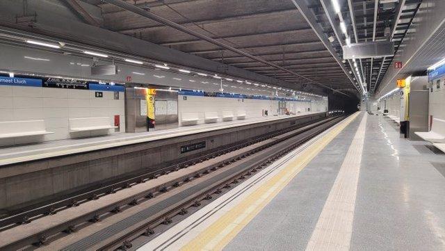 El Metre de Barcelona estrenarà la nova estació de la L5 Ernest Lluch aquest diumenge
