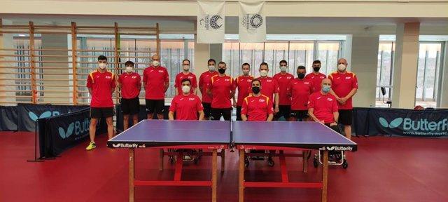 Concentración del equipo paralímpico español de tenis de mesa en el CAR de Sant Cugat para preparar los Juegos de Tokio