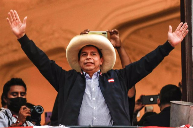 Archivo - El presidente electo de Perú, Pedro Castillo, de Perú Libre