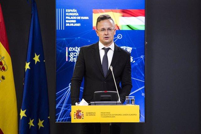 Archivo - El ministro de Asuntos Exteriores de Hungría, Péter Szijjártó.