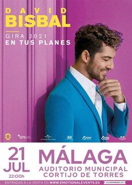 David Bisbal actuará en Málaga el próximo 21 de julio