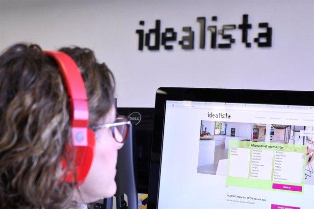 Archivo - Oficina de la empresa Idealista en Madrid, (España).