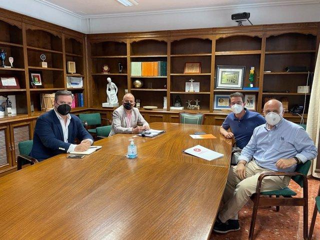 Reunión de la Diputación de Cáceres con TVE y Canal Extremadura