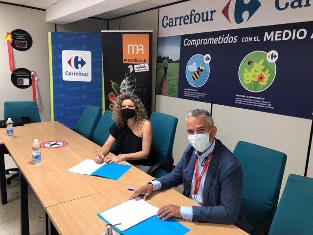 Mercalicante y Carrefour firman un convenio para impulsar la formación en materia alimentaria