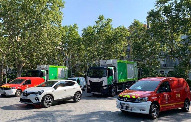 Nuevos vehículos presentados por el Ayuntamiento de Valladolid.