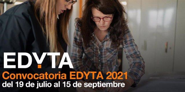 Cartel de lanzamiento del programa EDYTA de la Fundación Orange