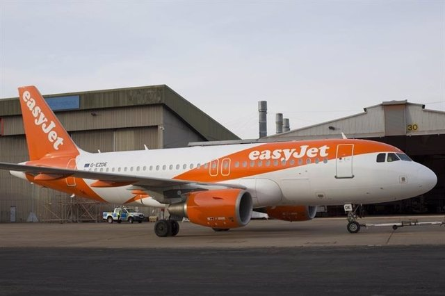 Archivo - Avión de easyJet