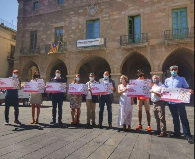 Presentación de la campaña 'Som Molts' de SCC el 20 de julio de 2021 en la Plaça Major de Manresa (Barcelona)