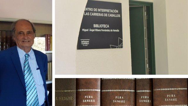 Miguel Ángel Ribera Fernández de Heredia, propietario, criador, entrenador y periodista que ha dedicado toda una vida a las carreras de caballos.