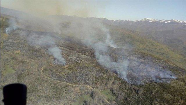 Archivo - Imagen de archivo de un incendio en Castilla y León.