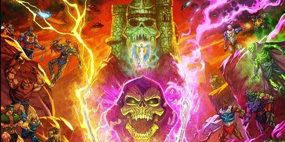 1. Brutal póster de Masters del Universo: Revelación que enfrenta a las huestes de He-Man y Skeletor