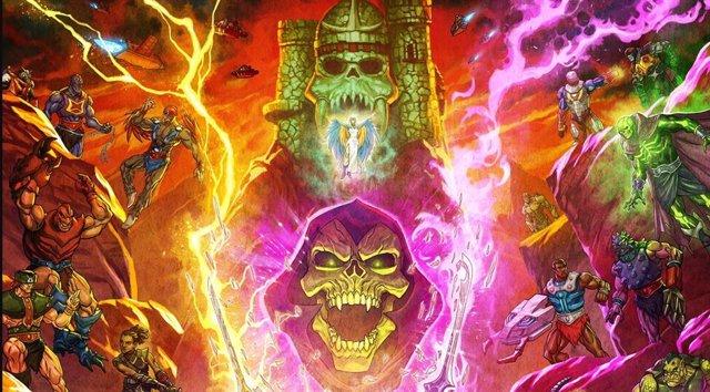 Brutal póster de Masters del Universo: Revelación que enfrenta a las huestes de He-Man y Skeletor