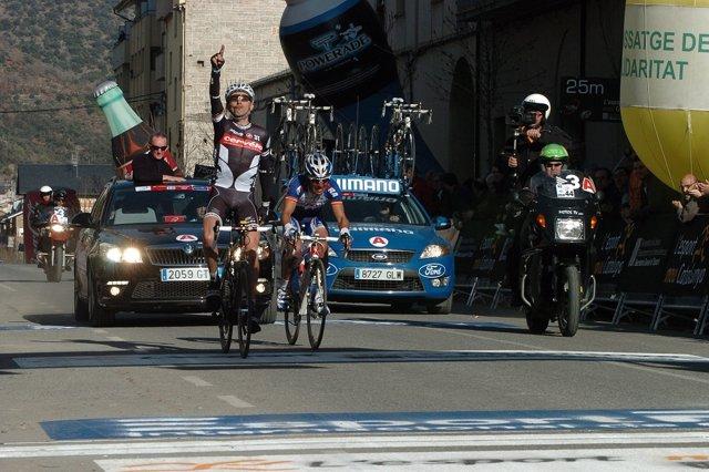 Llegada de una etapa en la Volta Ciclista a Catalunya a La Seu d'Urgell