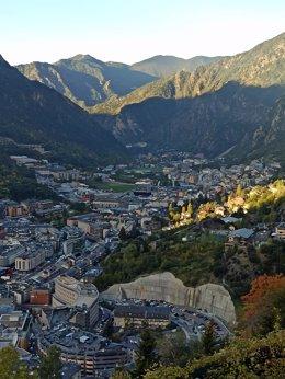 El núcleo de Escaldes-Engordany y Andorra la Vella