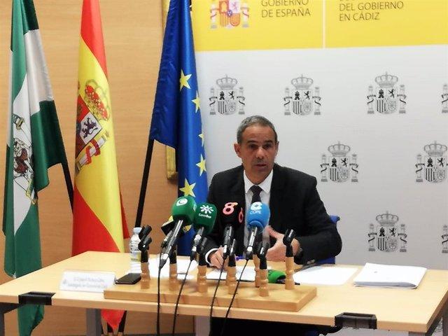 Archivo - El subdelegado del Gobierno en Cádiz, José Pacheco