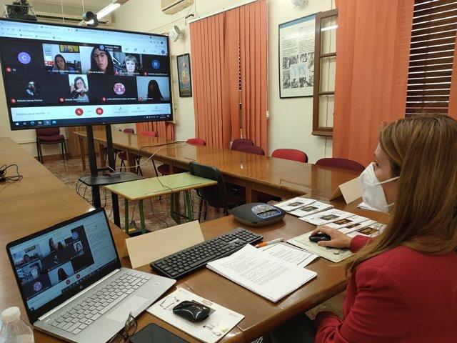 Un momento de las jornadas sobre el teletrabajo organizadas por CCOO con apoyo de la Diputación de Córdoba.