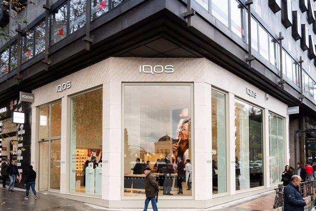 Archivo - Philip Morris abre su primera flagship de Iqos en Madrid